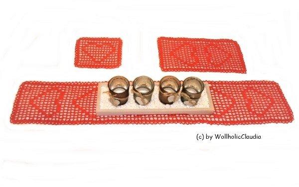 wollholicclaudia h kelanleitung 3er set tischl ufer. Black Bedroom Furniture Sets. Home Design Ideas