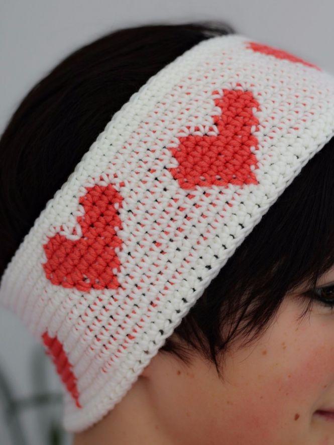 Maschen mit Liebe - Häkelanleitung Stirnband \