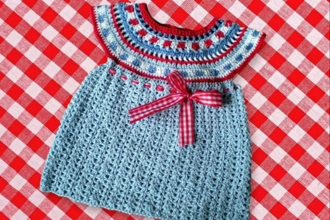 ursula-petra - Häkelanleitung Babykleid mit Rundpasse   MyBoshi.net