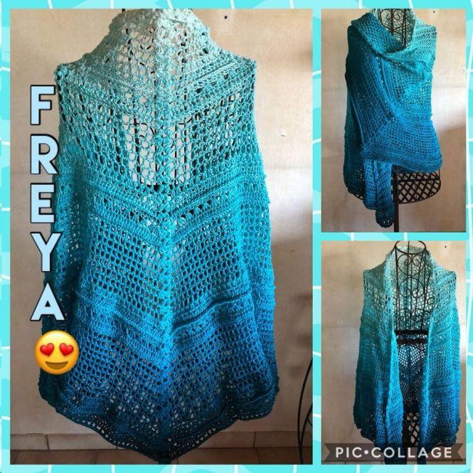 Leomaxi Crochet Freya 5 Eckige Stola Aus Einem Bobbel Häkeln