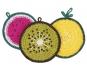 Häkelanleitung für Topflappen Tenri in Früchteform