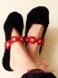 (65) Häkelanleitung Damen Ballerinas mit Häkelblüten