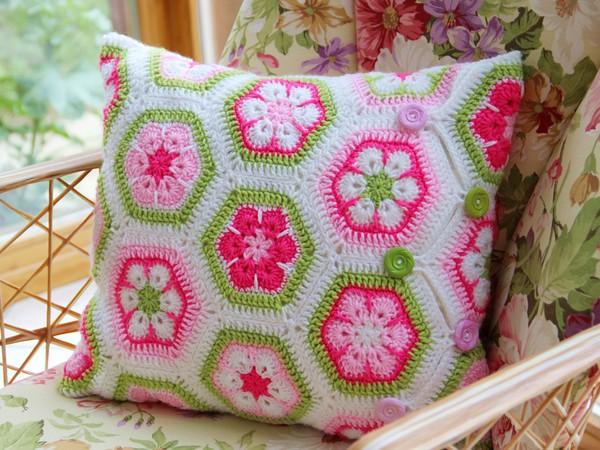 kissen african flowers selbst h keln. Black Bedroom Furniture Sets. Home Design Ideas