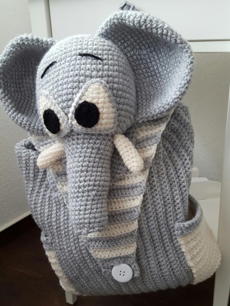 h kelanleitung rucksack elefant. Black Bedroom Furniture Sets. Home Design Ideas