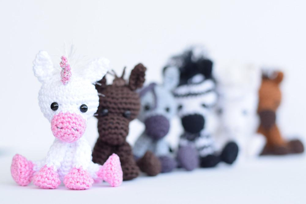 Haekelicious pferd esel einhorn zebra - Einhorn geschenkverpackung ...