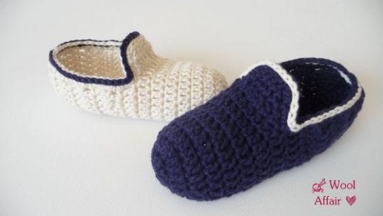 Häkelanleitung Hausschuhe häkeln - Loafers für Kids - No.64