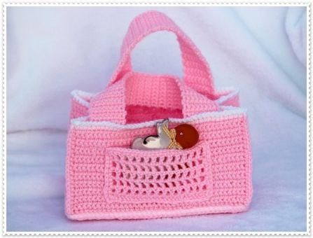 Kleine Lieblings- Häkeltasche für Kinder