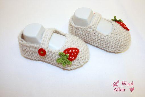 Strickanleitung für Erdbeer Schuhe -auch für Anfänger- No.15