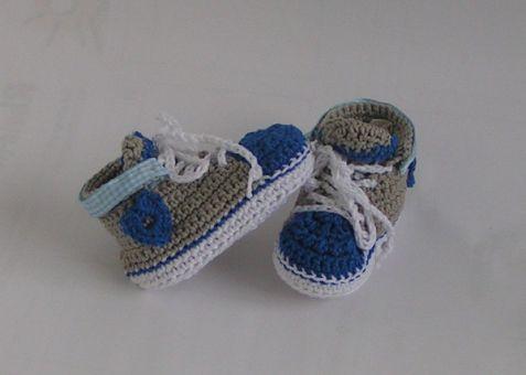 Häkelanleitung Babyschuhe/Trachtenschuhe