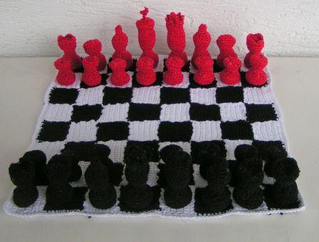 Häkelanleitung Schachspiel chess set