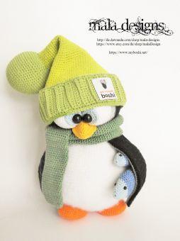 Pinguine mit Bommelmütze