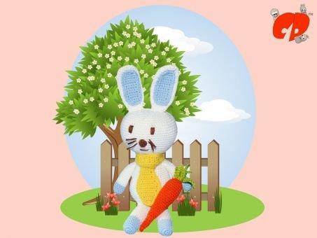 Häkelanleitung (044): Hase mit Karotte