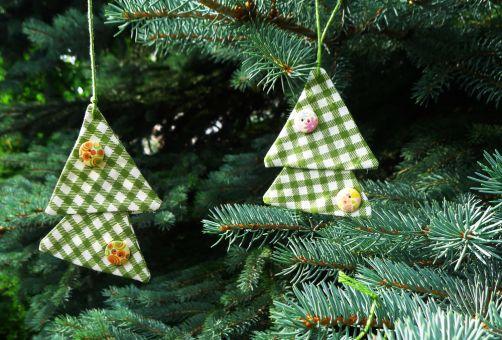 Nähanleitung Tannenbaum Anhänger für den Weihnachtsbaum