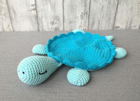 Schnuffeltuch Schildkröte - Häkelanleitung