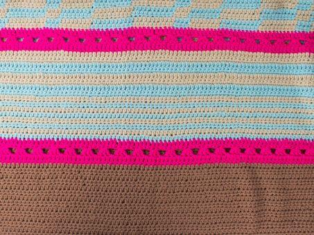 Häkelanleitung für Decke Kashiwa