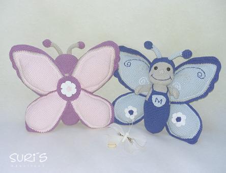Häkelanleitung Schmetterling Marius und Maxima