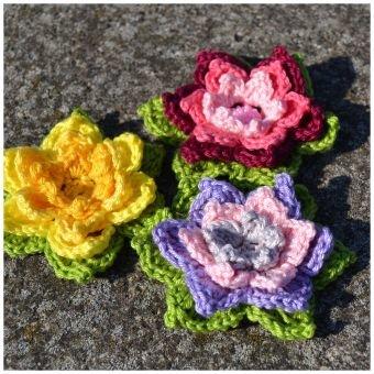 + FLORA + 3-D Blüte, schnell gehäkelt, Tischdeko, Geschenk