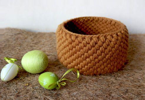 Osterkörbchen im Weiden-Look häkeln. Einzigartig schön.