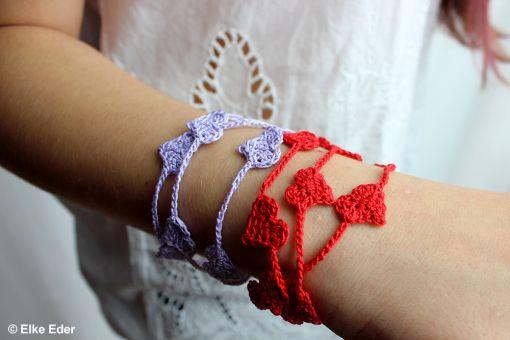 Wickelarmband Armband mit Herzen - leicht und trendy