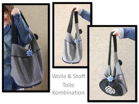 coole Tasche aus Stoff und Wolle - 2 LOOKS