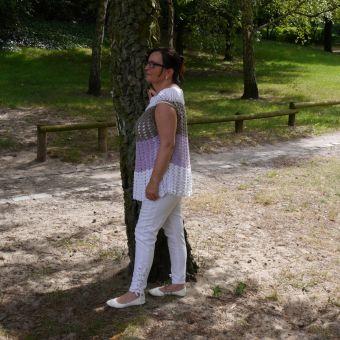 Häkelshirt/Häkeltunika alle Größen oversize Summer Dream