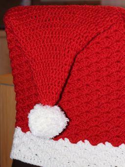 Häkelanleitung für eine weihnachtliche Stuhlhusse