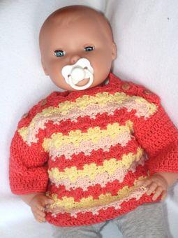 """Häkelanleitung Babypullover """"Venusmuschel"""""""