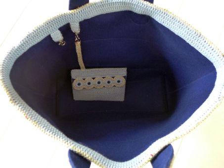 Mod. 019 - Tasche / Shopper mit Zopfmuster