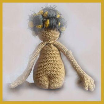 Goldenes Mädchen Granny PDF Häkelanleitung  Puppe