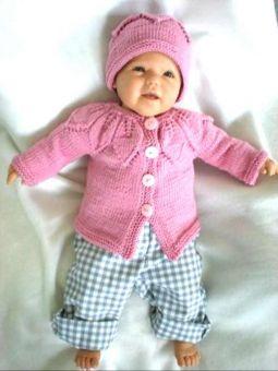 Strickanleitung Babyjacke und Mütze