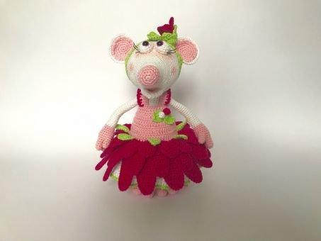 Gerbera-Outfit für Maus Flora, die Blumenfee (ohne Figur)