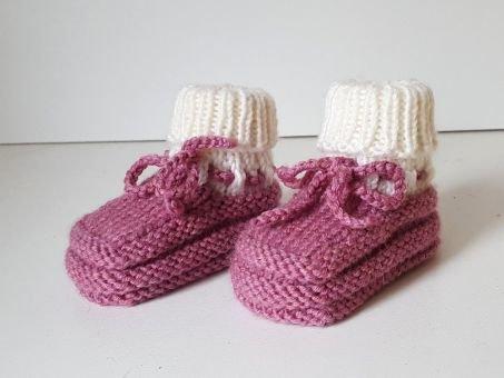 Strickanleitung Baby-Schuhe, Babyschuhe, Baby-Booties
