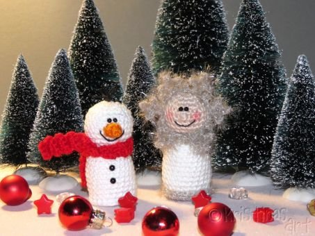 Häkelanleitung Winterfreunde - 2 Figuren