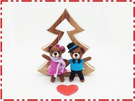 Häkelanleitung Bär Weihnachtsbärli oder auch Mr. & Mrs. Bär