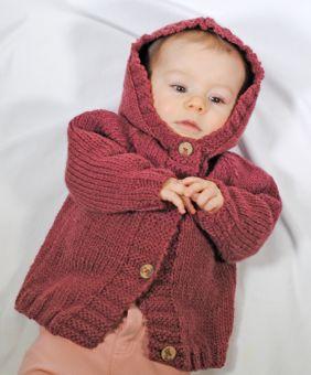 Strickanleitung Kapuzenjacke Linus & Lina für Babys