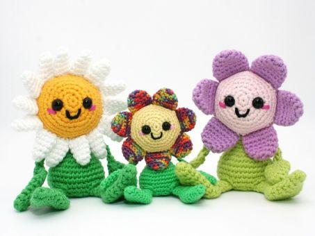 Fröhliche kleine Blume - Häkelanleitung