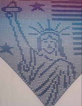 """Motivtuch """"Lady Liberty"""", Dreieckstuch"""