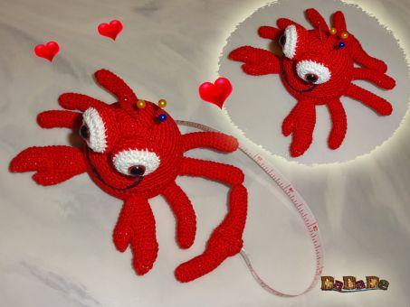Nadelkissen mit Rollmaßband Krabbe, von DaDaDe