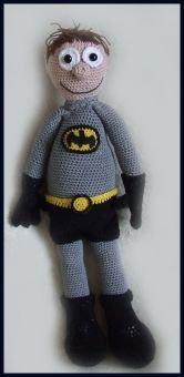 Batman,  Amigurumi pop ,amigurumi doll, amigurumi Puppe
