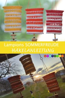 """Häkelanleitung - Lampions """"Sommerfreude"""" häkeln"""