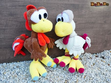 Glucke Mrs.Chicken und Gockel Mr. Nugget