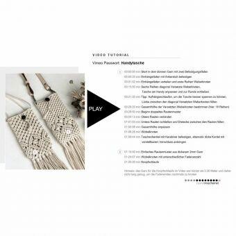 Makramee Handytaschen Tutorial | PDF inkl. 80min Video