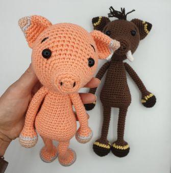 Wildschwein + Schweinchen Häkelanleitung