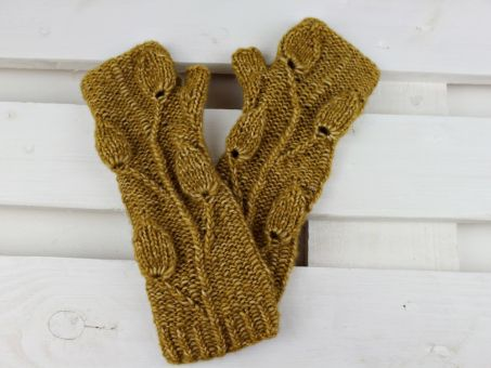 "Strickanleitung ""Golden Leaves"""