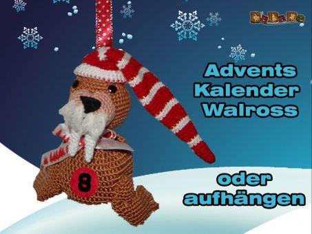 Adventskalender Tiere, Walross - gehäkelt von Dadade