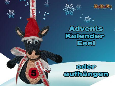 Adventskalender Tiere, Esel - gehäkelt von Dadade