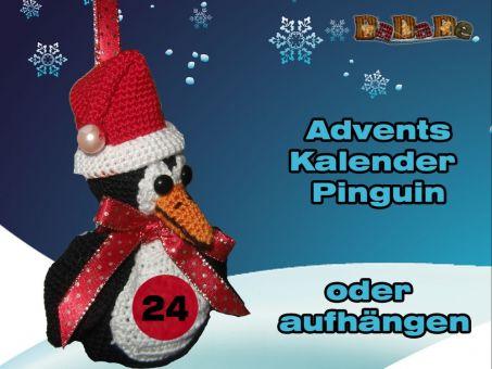 Adventskalender Tiere, Pinguin - gehäkelt von Dadade