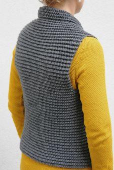 Crochet Vest Made in One Piece