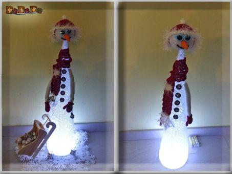 Schneemann mit LED-Licht  - Dekoration, -von Dadade