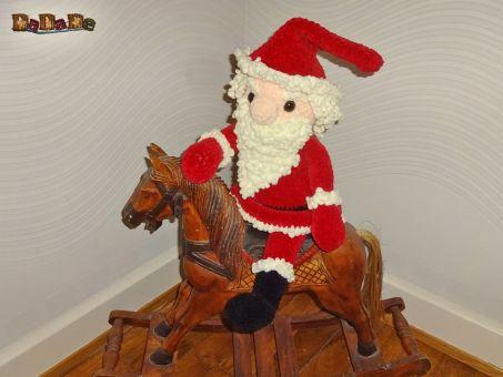 Nikolaus oder Weihnachtsmann, die beleuchtete Dekoration